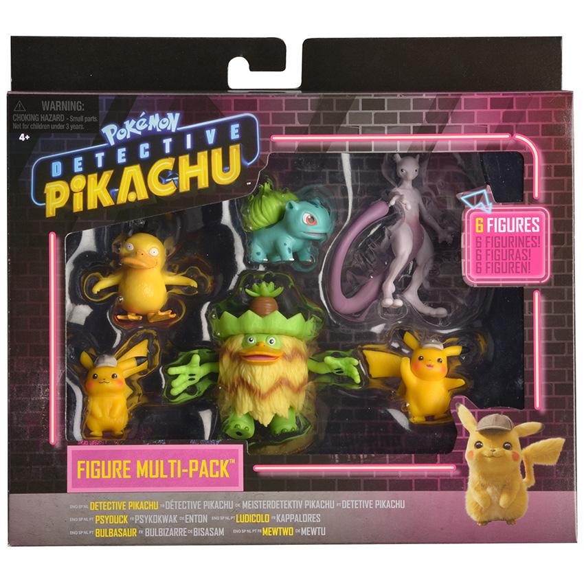 Pokémon figúrky detektív Pikachu multipack (6-Pack)