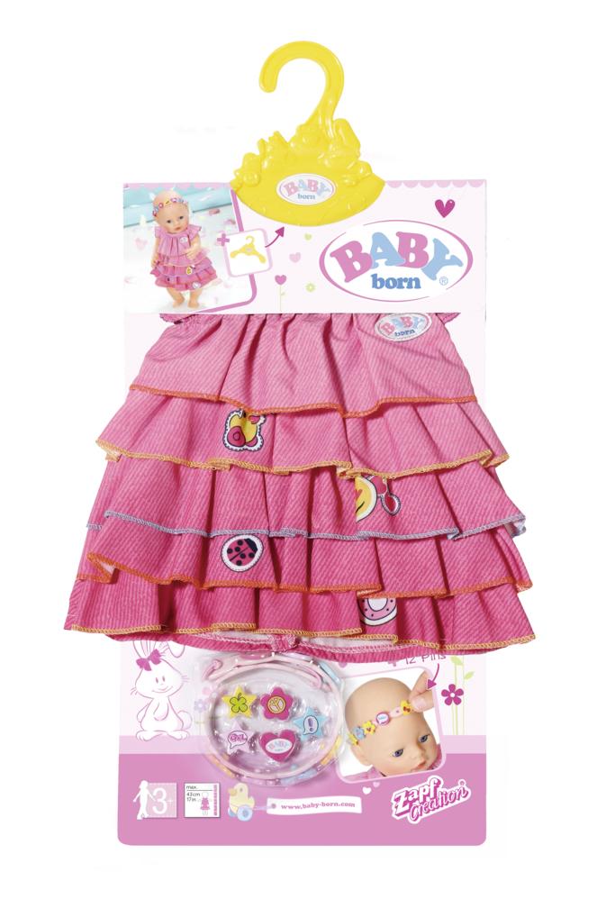 BABY born® Letné šatôčky s farebnou čelenkou