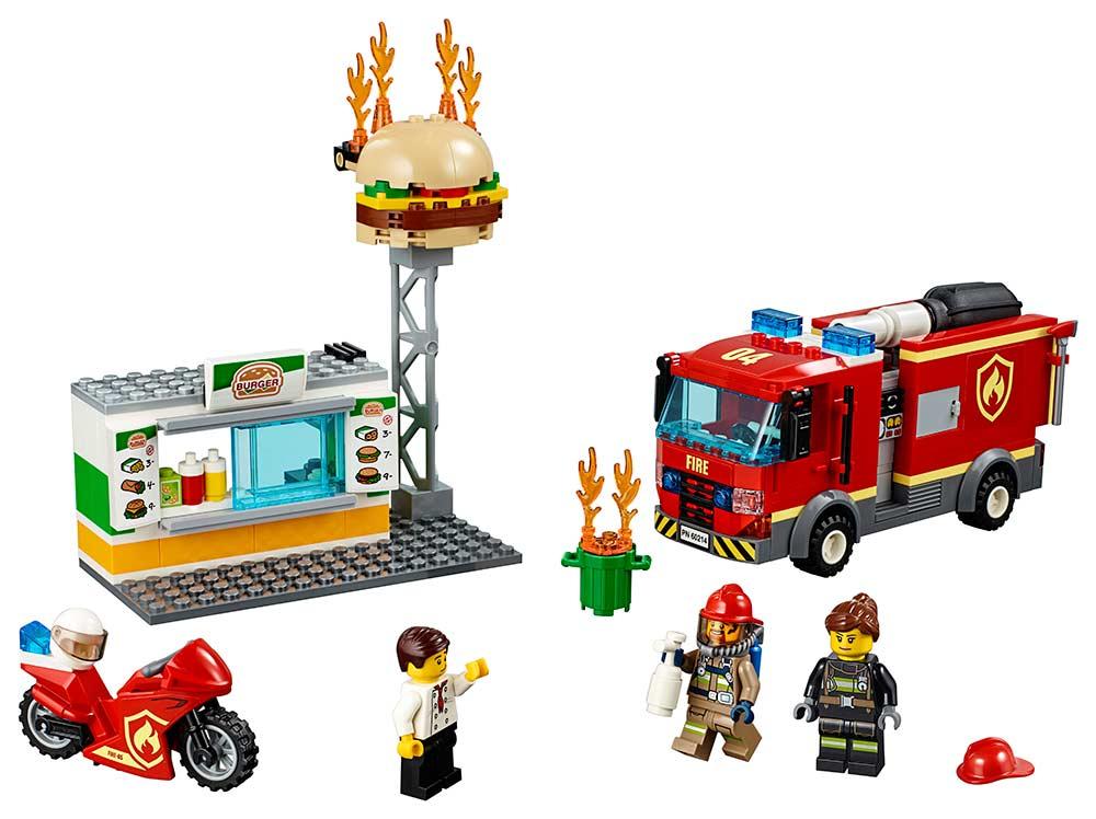 Zásah hasičov vburgrárni