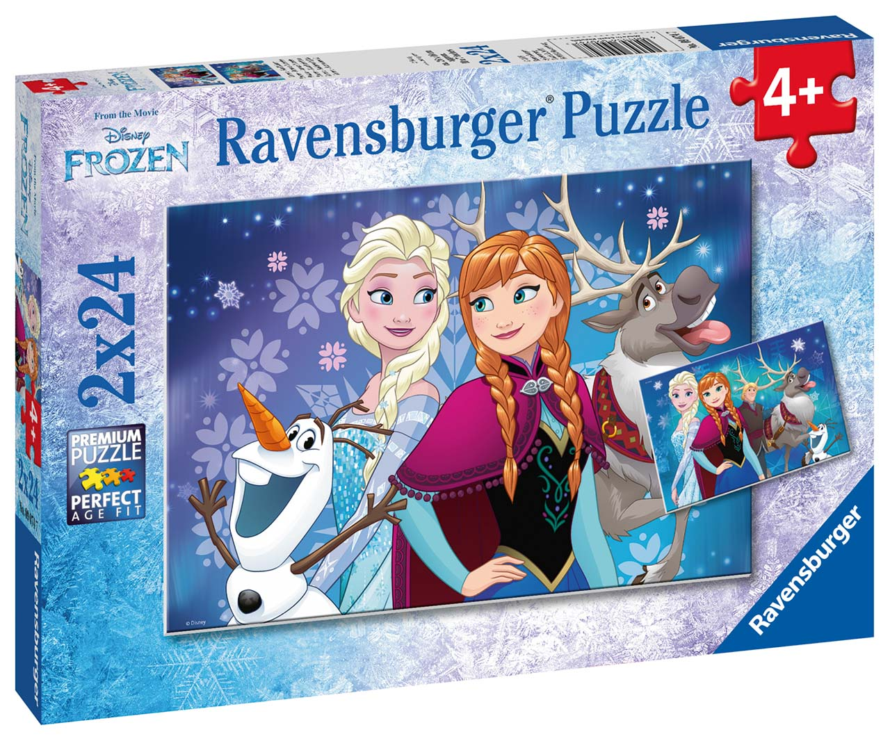 Disney Ľadové kráľovstvo 2x24 dielikov