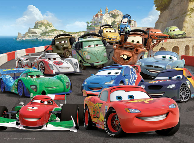 Cars 2, 100 dielikov XXL