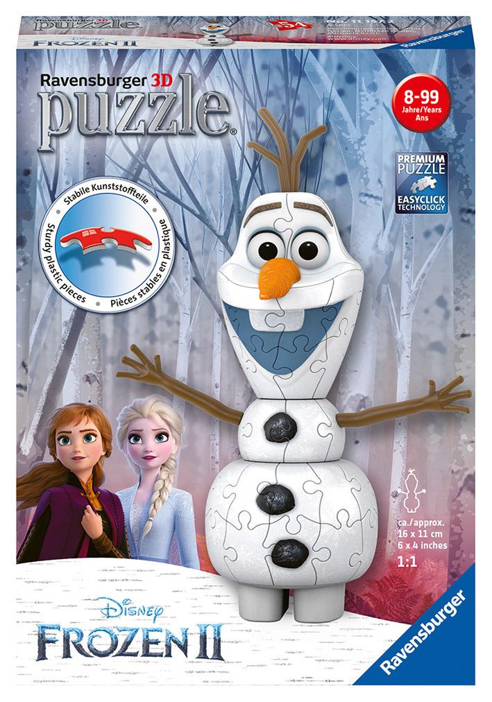 Disney Ľadové kráľovstvo Olaf 3D Puzzle