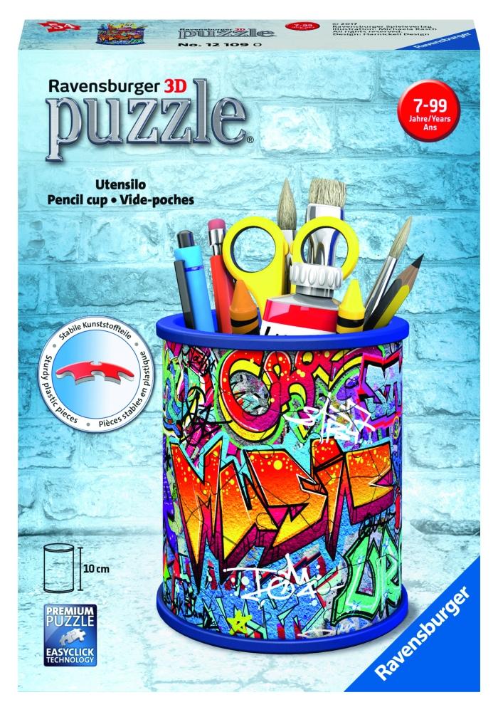Stojan na ceruzky Graffiti; 3D, 54 dielikov