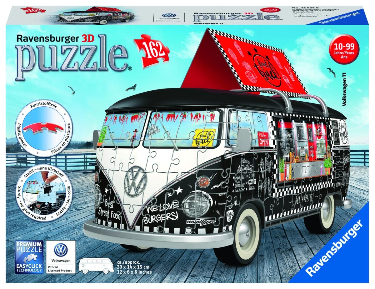 VW Autobus pojazdné občerstvenia; 3D, 162 dielikov