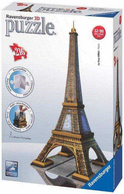 Eiffelova veža 3D 216 dielikov