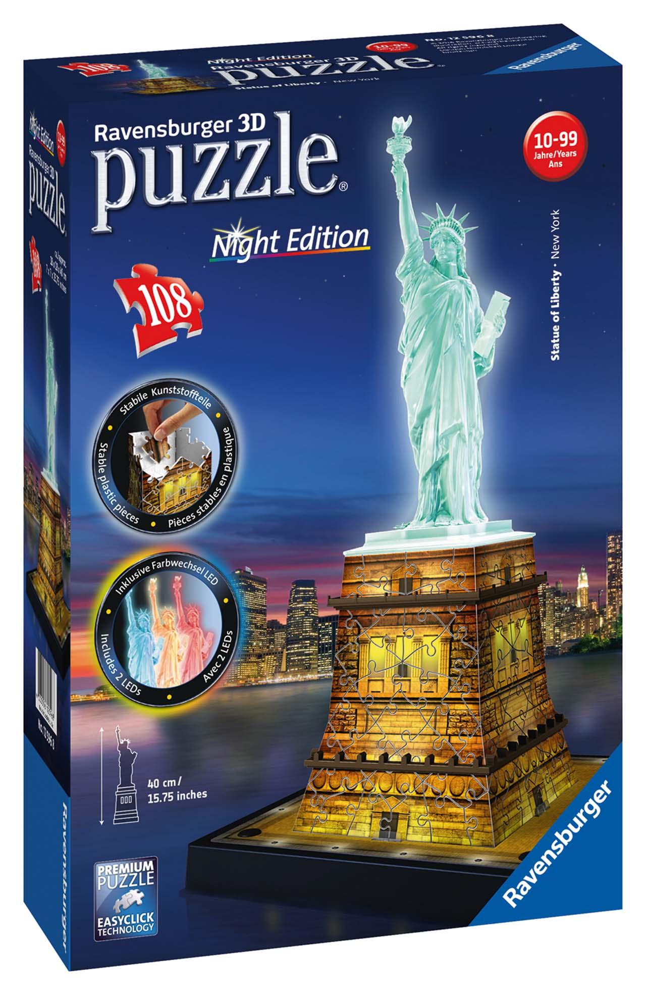 Socha Slobody 3D (Nočné edícia) 108D