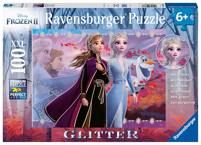 Disney Ľadové kráľovstvo 2 100 dielikov Trblietavé puzzle