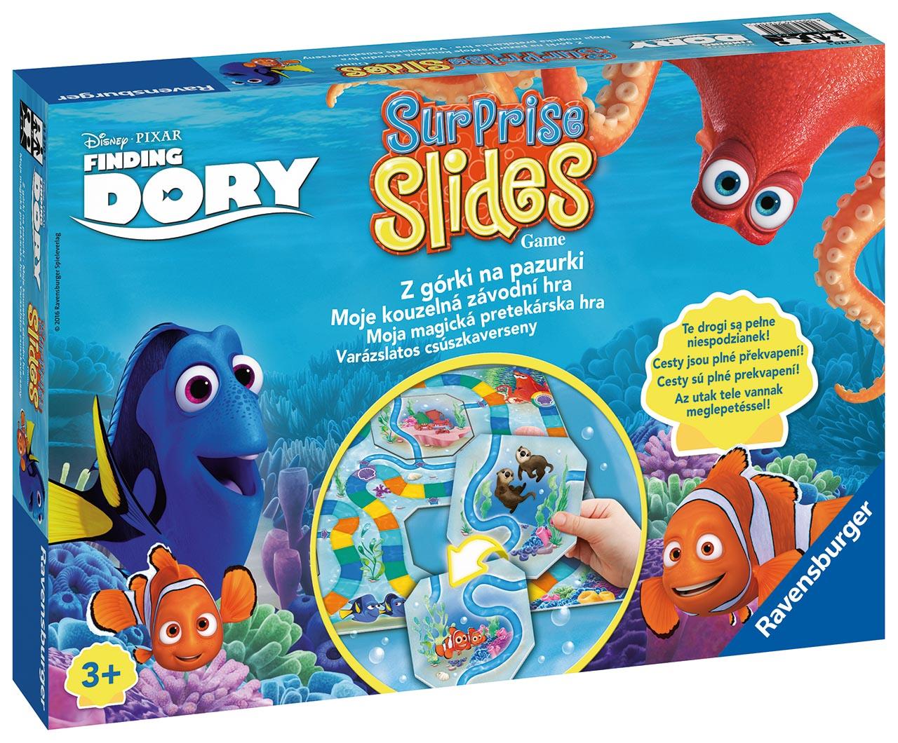 Disney hľadá sa Dory surpr. Sklíčka Game PL/HU/CZ/SK