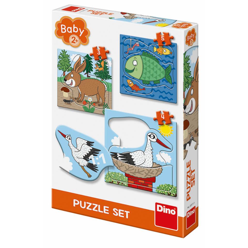 Zvieratká: Kde žijú 3-5 baby puzzle