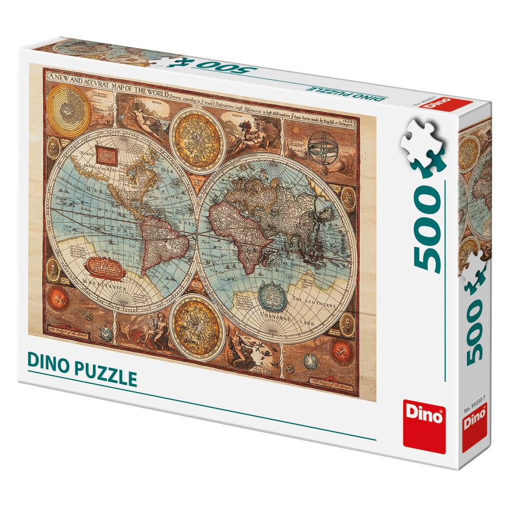 Mapa sveta z R.1626 500D