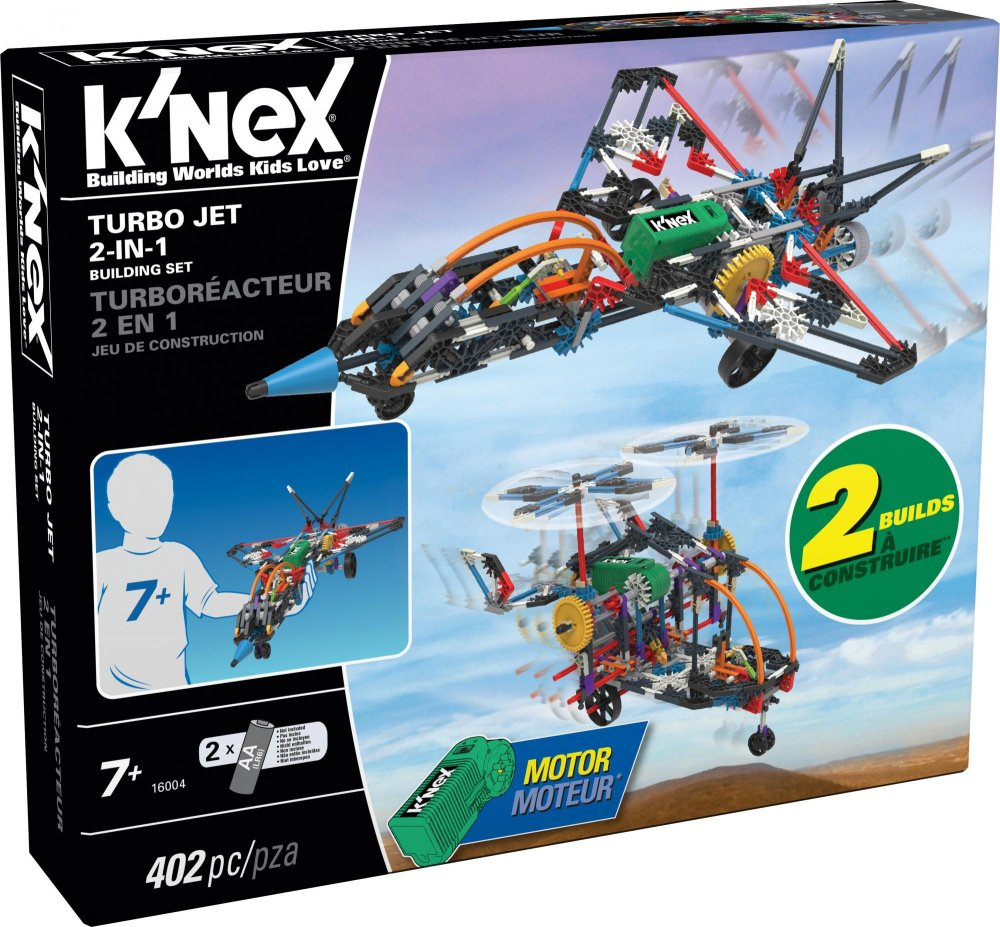 K'NEX - Stavebnica lietadlo Turbo Jet 2 v 1, 402 dielikov