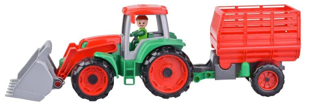 Truxx Traktor s prívesom na seno, ozdobný kartón