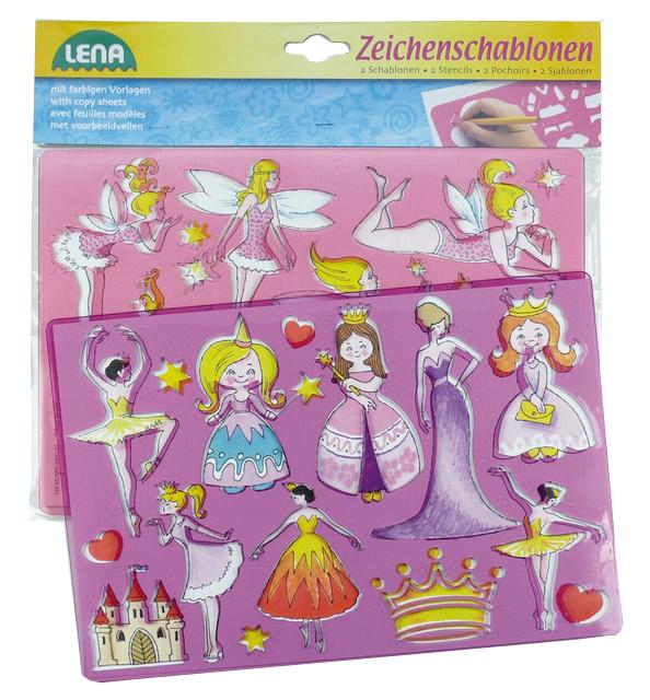 Kresliace šablóny (princezné, baletky)