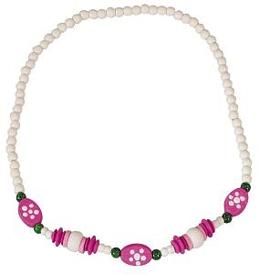 Detský náhrdelník biely