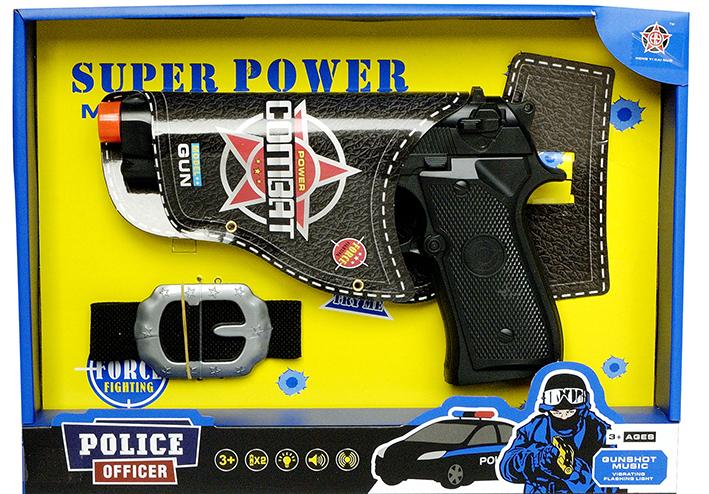 Policajná pištoľ s opaskom