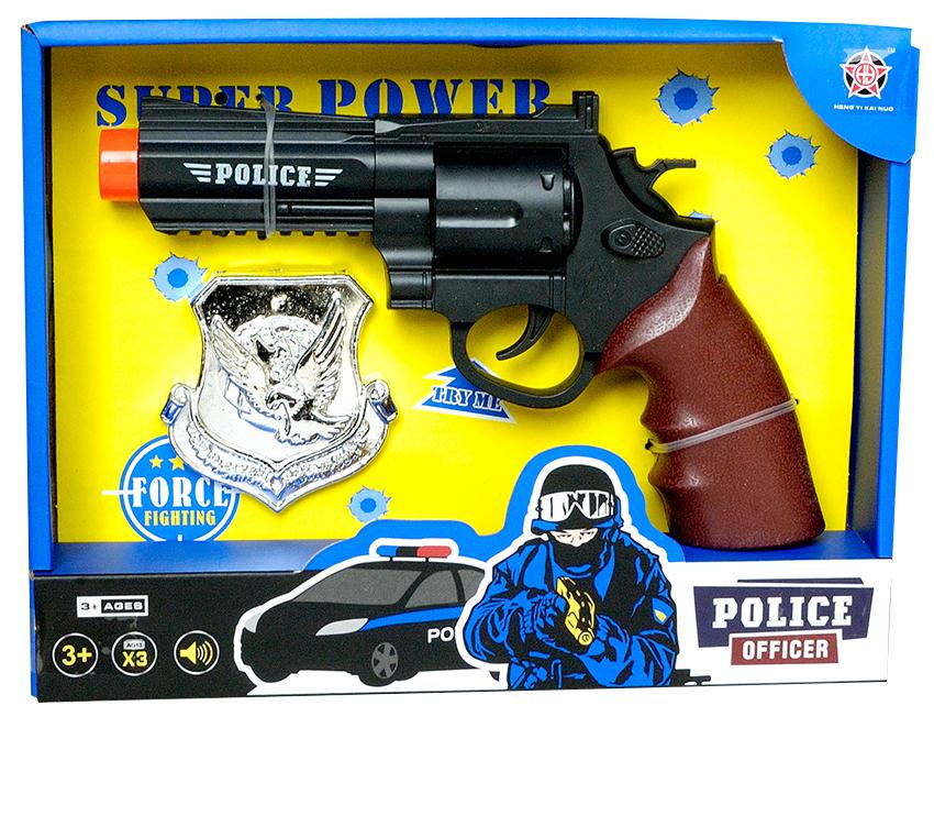 Policajná pištoľ s odznakom