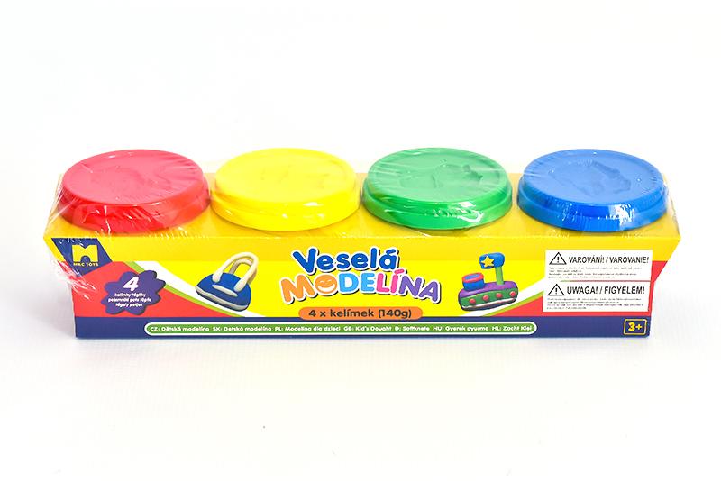 Plastelína 4x 140g rôzne farby